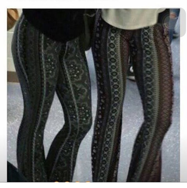 Leggings Flare Pants Pattern Tribal Pattern Tight