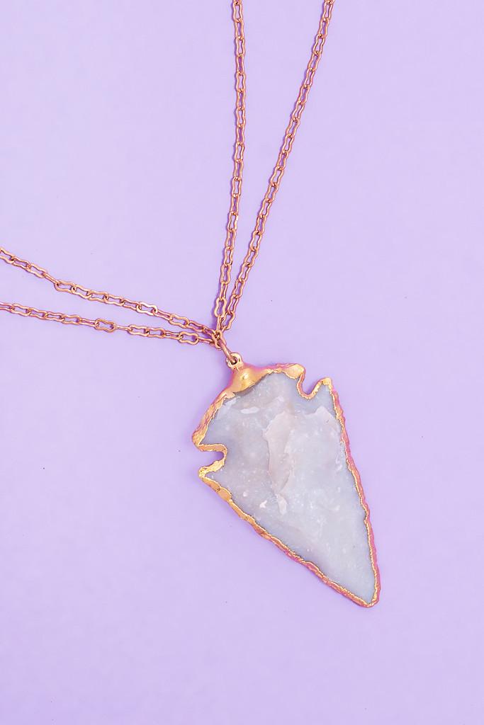 Arrowhead Double Chain Choker Necklace - skinniebelle