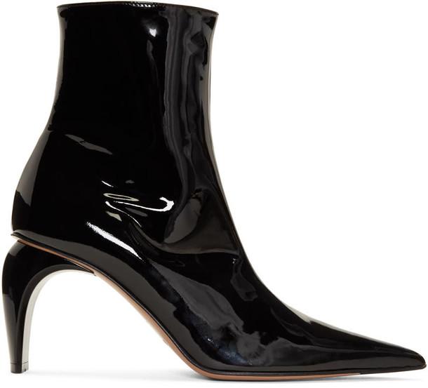 Misbhv vinyl ankle boots black shoes