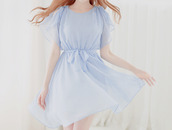 dress,pale,blue,cute,kawaii,chiffon