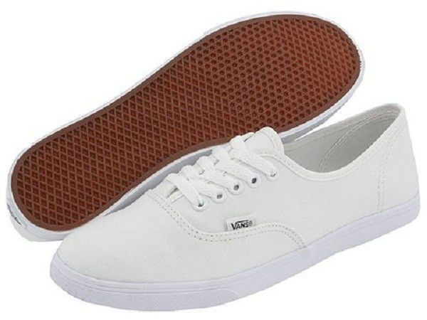 Women Vans Authentic Lo Pro Canvas True White 100% Original Brand New