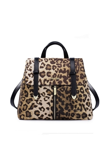 Preppy Style PU Leopard Backpack [FPB566] - PersunMall.com