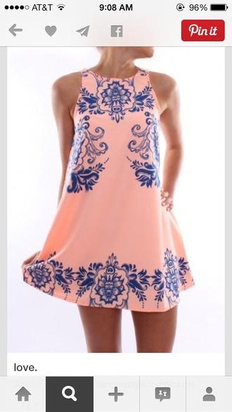 dress summer dress peach dress pink dress short dress