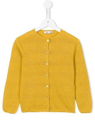 cardigan girl yellow orange sweater