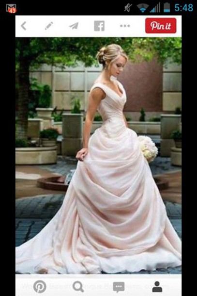 dress wedding wedding dress colorful designer fabric pink blush silk organza wedding dress