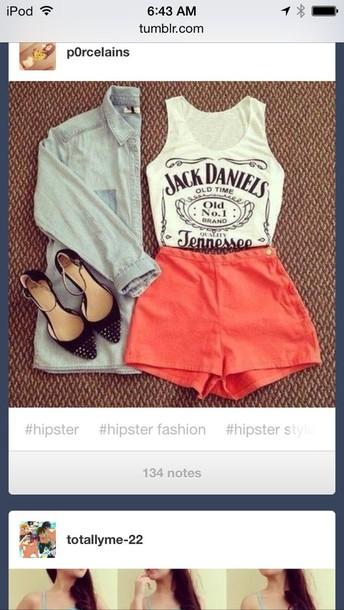 shoes shorts peach pink shirt
