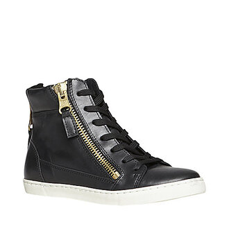 shoes steve madden sneakers cute fashion black zip gold lace up lovely lace-up shoes