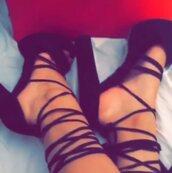 shoes,strappy heels,platform heels,open toes,high heels,black