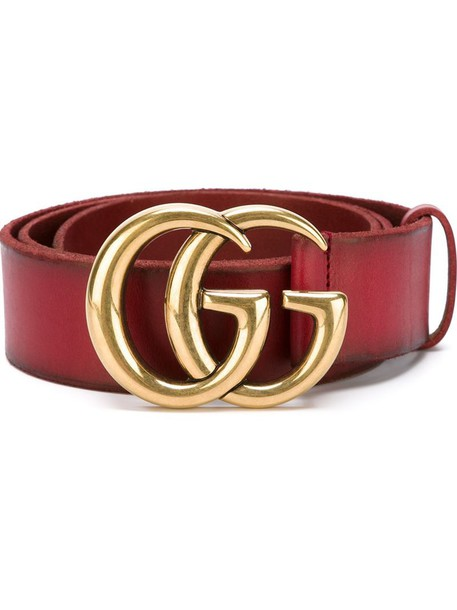 metal women belt leather red