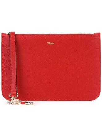 women clutch red bag