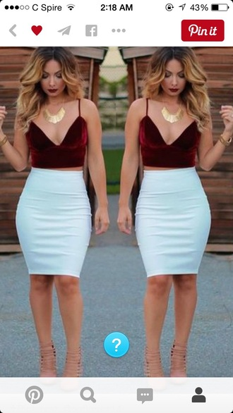 skirt white fitted
