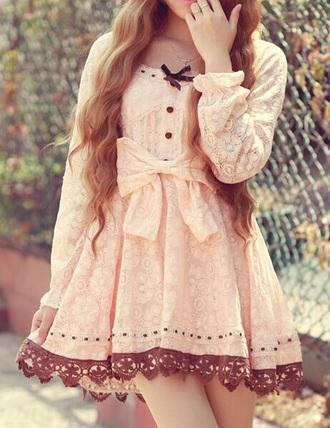 dress bow lace cute dress cute dresses asian fashion asian bow dress pastel dress lace dress