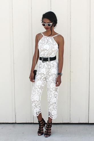 tuolomee blogger jumpsuit sunglasses bag