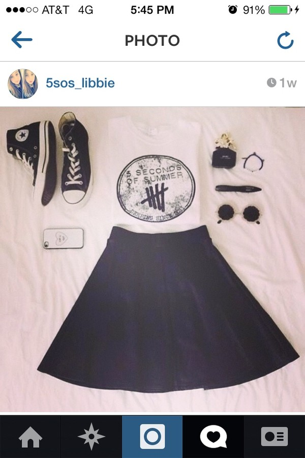shirt 5 seconds of summer skirt