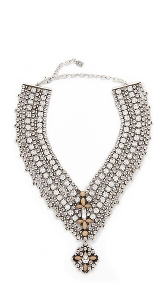 matte clear necklace silver black matte black jewels