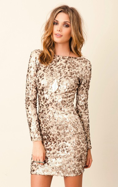 dress white dress gold sequins