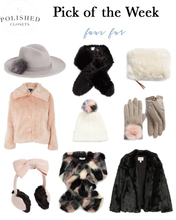 polishedclosets blogger hat bag jacket gloves fur fur coat winter outfits beanie pom pom beanie leather gloves fur scarf