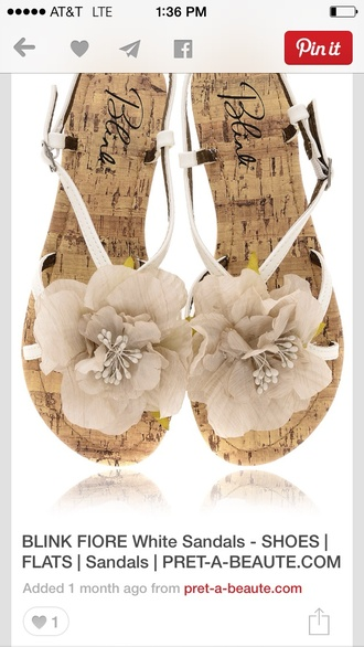 shoes flowers flat sandals