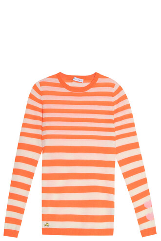sweater striped sweater orange