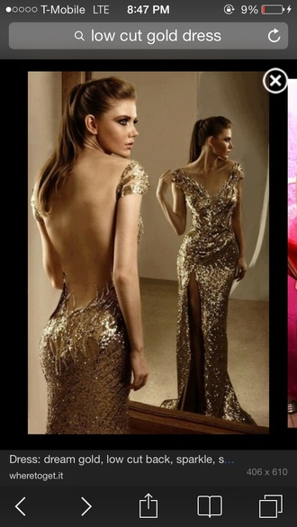 gold sequins dress prom dress low cut back off the shoulder dress evening dress