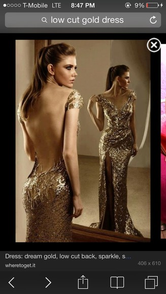 dress prom dress low cut back gold sequins off the shoulder dress evening gown