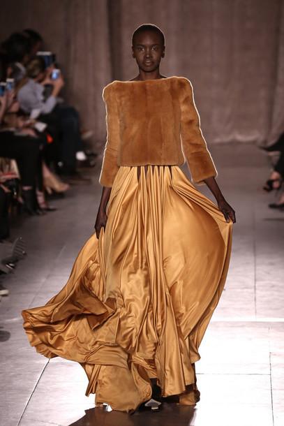 sweater skirt maxi skirt maxi dress dress fashion fashion week 2015
