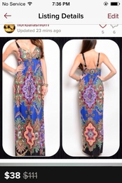 dress,vibrant multi color dress with built in bra and adjustable strapes