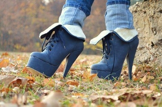shoes boots low boots boots with the fur pump boots boot pumps high heel boots navy fur boots