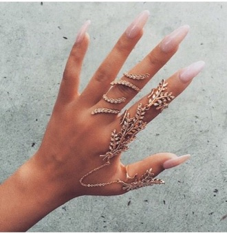 jewels gold ring rings and tings jewelry bling knuckle ring gold ring finger rings full finger rings linked ring