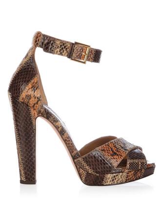 heel sandals platform sandals leather brown shoes