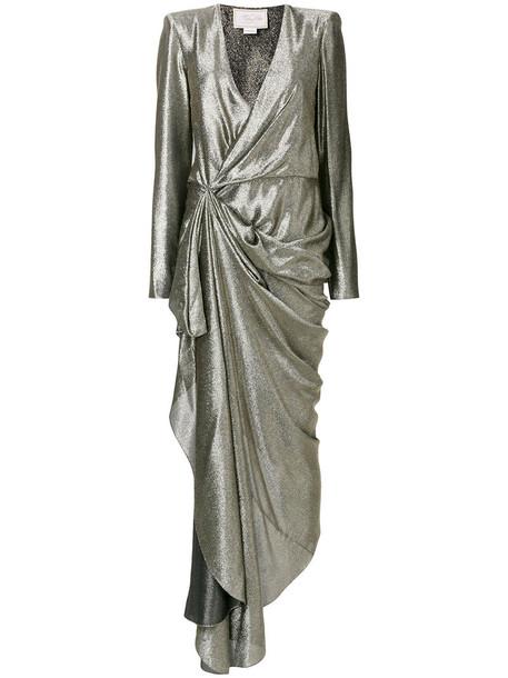 dress women spandex silk grey