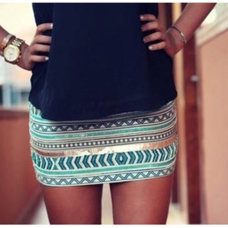 skirt gold skirt aztec bodycon skirt tube skirt aztec print skirt blue skirt bodycon skirt tribal aztec mini skirt mini skirt aztec mini skirt aztec tribal print tribal pattern bodycon mini skirt