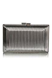 bag,silver metallic clutch,silver clutch,metallic clutch,ribbed box clutch,ribbed clutch,clutch,www.ustrendy.com