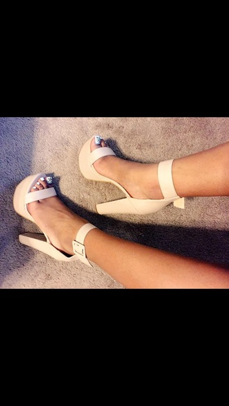 shoes nude sandals nude heels