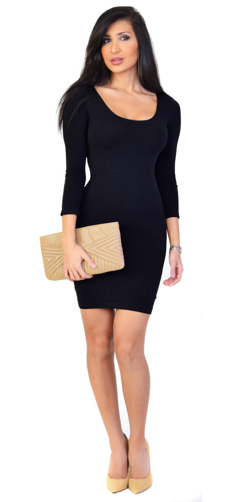 Comeback baby scoop neck perfect fit dress