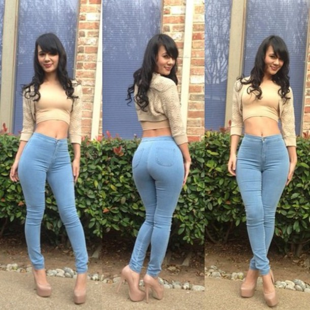High rise jeans curvy