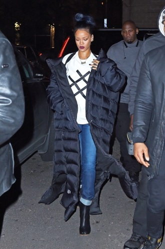 shirt rihanna jacket top boots