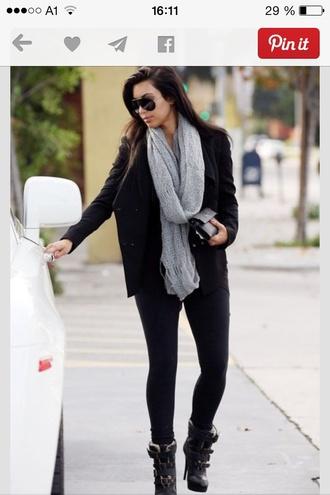 scarf kim kardashian jacket sunglasses