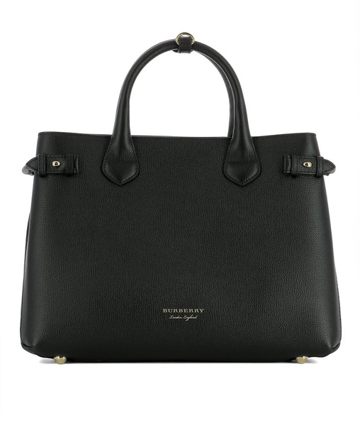 Burberry bag leather black black leather