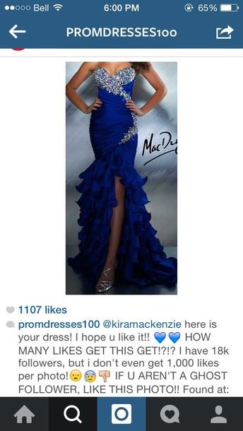 dress prom dress royal blue dress prom gown prom dress royal blue
