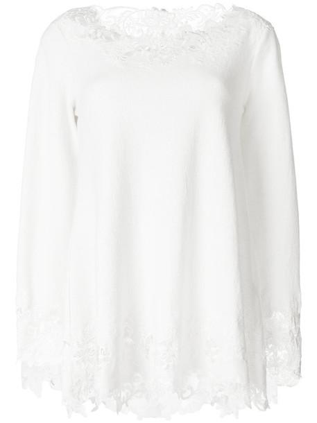Ermanno Scervino sweater women lace white silk wool