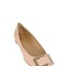 10mm belle vivier brushed leather flats