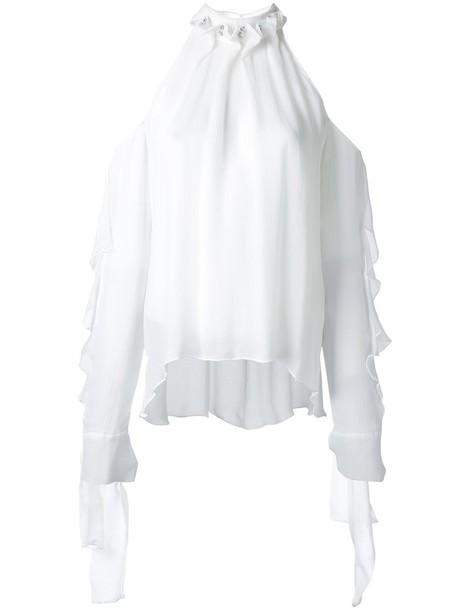 Manning Cartell blouse women white silk top