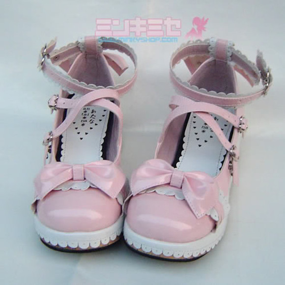 shoes pink shoes bows lolita kawaii kawaii shoes lolita shoes