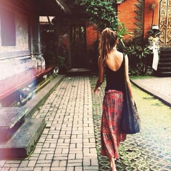 chic style fashion skirt boho comfy