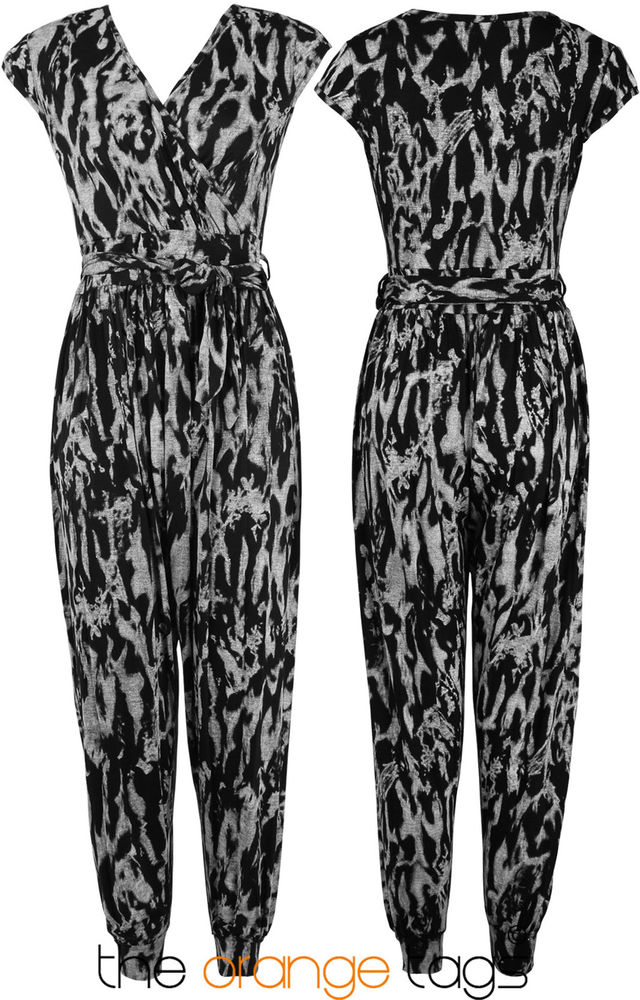 NEW LADIES HAREM JUMPSUIT WOMENS TYE DYE PRINT PLAYSUIT | eBay