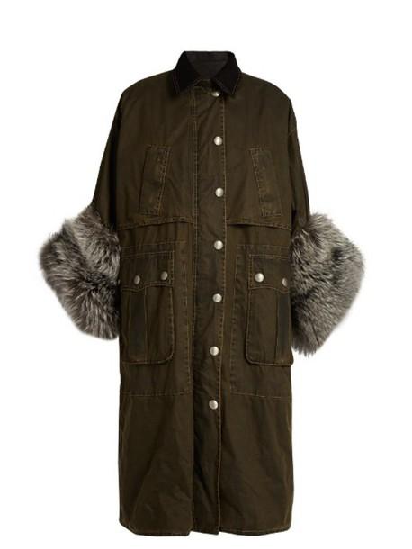 Miu Miu coat fur cotton black