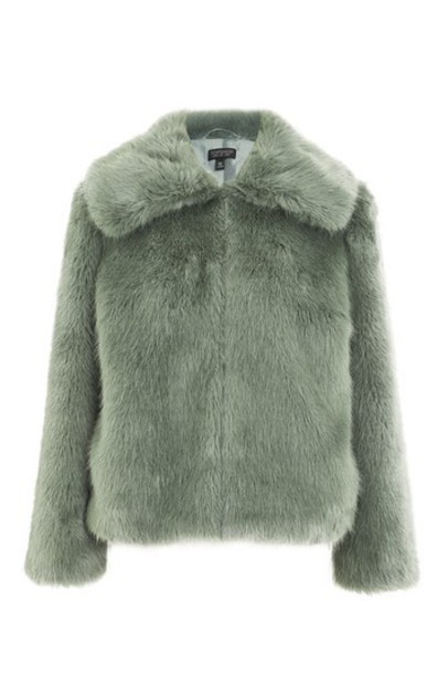 Topshop coat faux fur coat fur coat fur faux fur