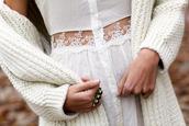 dress,white shirt,chunky cardigan,white dress,shirt dress,sweater