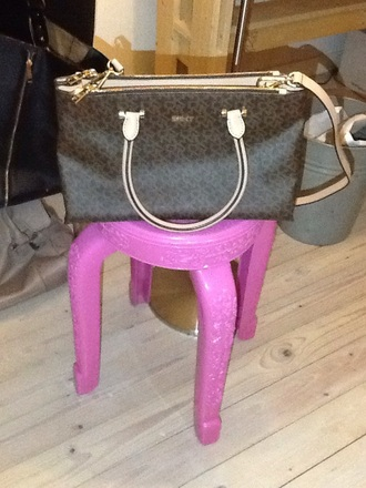 bag dkny tote bag saffiano leather saffiano brown bag shoulder bag